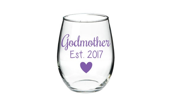 godmother wine glass will you be the godmother glass baby