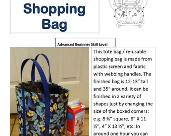 Reusable Shopping Bag and Thermal Insert Digital Pattern from Daydreamers & Time Travelers - perfect gift for everyone