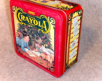 Crayola Crayon Tin - Christmas 1992 - Limited Edition