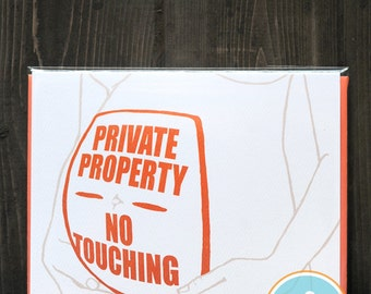 Private Property, No Touching - Pregnancy Card