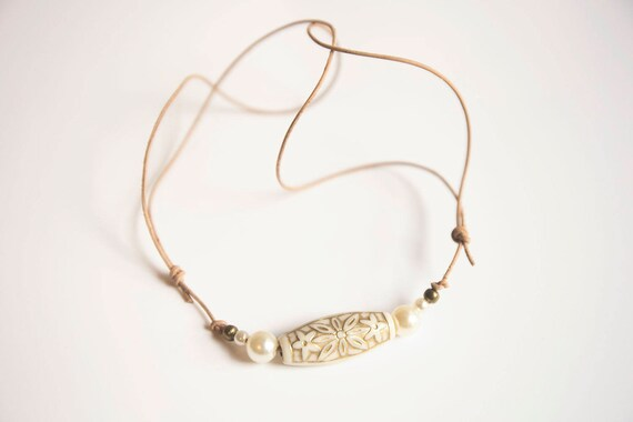 Skinny Leather Hippie Necklace, adjustable.  boho, natural, hippie, gypsy. Different colours available
