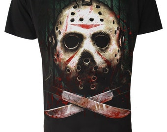JASON T Shirt   Friday The 13th GOTH Horror