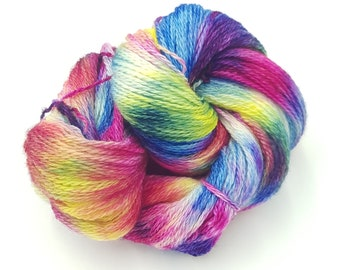 Hand Dyed 4ply Falkland Merino Wool - Watercolour Scene