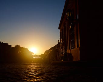 Sunset over the old town of Colonia del Sacramento, Uruguay