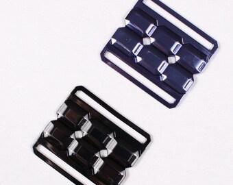 2 55x50mm belt buckles, metal (3055)