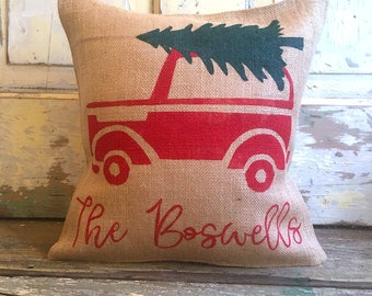 Pillow Cover | Family Christmas pillow | Christmas Tree pillow | Christmas pillow | Christmas decor | Holiday pillow |