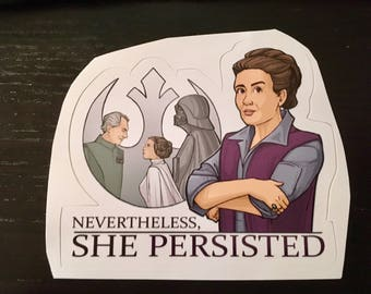 Individual Die Cut She Persisted sticker (Item 01-387)
