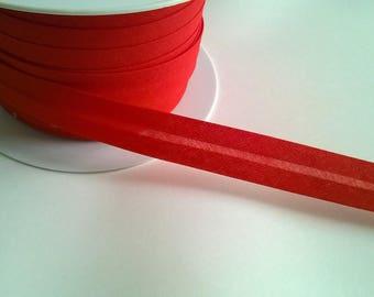 Band-Bias Double Falte vor dem Nähen Red Ribbon