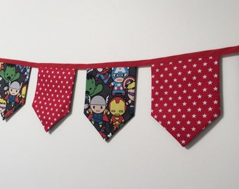 Super Hero Fabric Bunting / banner