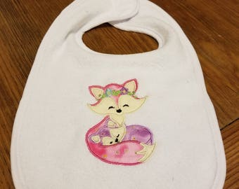 Mommy and Baby Fox Bib