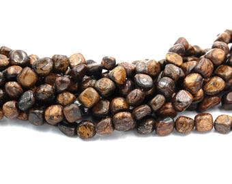 Bronzite Polished Nugget Beads , 8x5mm -15.5 inch strand