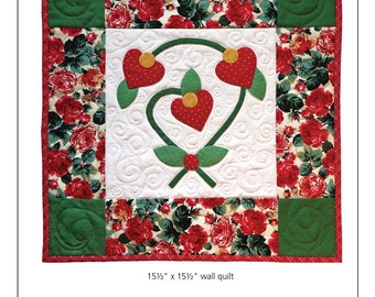 Hearts in Bloom Wall Quilt Pattern