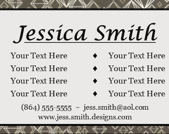 Personalized and Printed Business Cards 100 or more