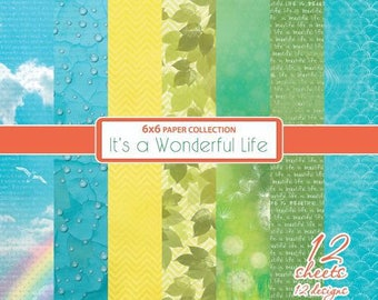 12 papers 15.2 x 15.2 cm SCRAPBERRY's IT's A WONDERFUL LIFE