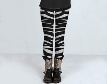 Waves Black and White: leggings, yoga leggings, printed leggings, women's clothing, women's leggings, spandex sports