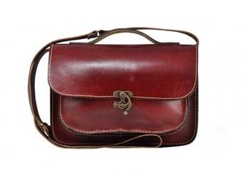 Red Messenger Bag ,Satchel ,Casual Bag ,Leather Daily Bag, Surface Bag ,Leather Tote Bag ,Red Handbag ,red tote bag