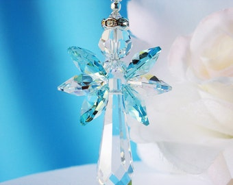 Angel Car Charm, Rear View Mirror Accessories, Swarovski Crystal Suncatcher for Car, Hanging Crystals, Gifts for Her
