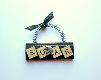 Eagle Soar Like An Eagle Scrabble Tile Ornament