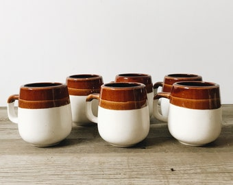 Set of 6 mid century mugs | vintage mugs