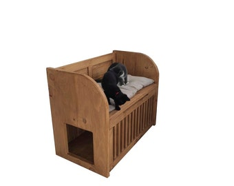 Indoor Cat House/Cat bed/Litter tray storage (Can be made to any size)
