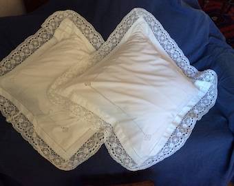 Too big cotton pillow cases with attractive embroidery