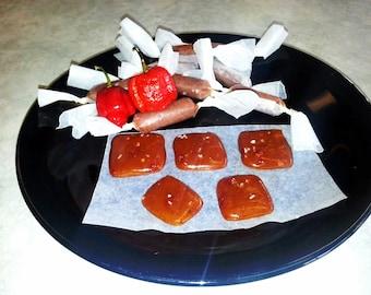 Organic Carolina Reaper Sea Salted Caramel Chews-World's Hottest Caramel Chews. Blazing hot guaranteed the Caramels in the WORLD