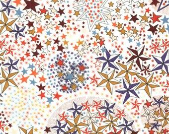 Liberty Liberty ADELAJDA multicolored pattern blue mustard print fabric