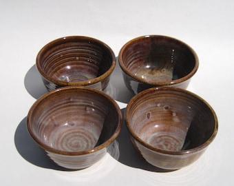Ice Cream Bowl Set of 4 - Coffee Glaze