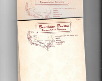 Set of 3 Southern Pacific  Vintage Notepads