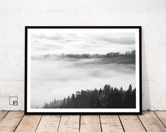 Forest Print Art, Forest Print, Nature Prints, Landscape Prints, Digital Landscape, Nature Decor, Nature Home Decor, Nature Poster, Nature