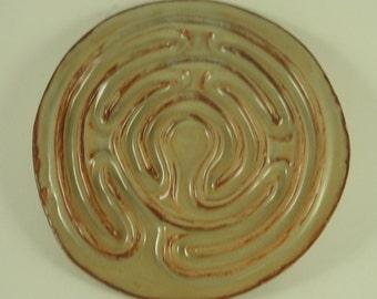"Petite Chartres,  Creamy Rust PC010918,  7 1/2 "" Diameter"