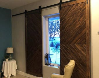 Custom made barn doors ( Made to Order ) message for prices