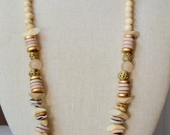 Kennedy Glass & Wood Necklace