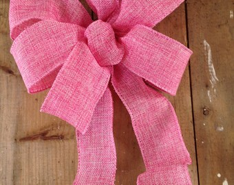 Pink Bow ribbon wreath decor Chair Pew wedding gift bows garland spring decoration