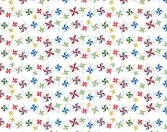 Summer Celebrations  - 1 Yard Cut - Riley Blake Fabric - Pinwheel Fabric - Cotton Fabric - Quilting Fabric