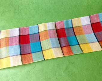 Wide woven ribbon/sash - by the yard