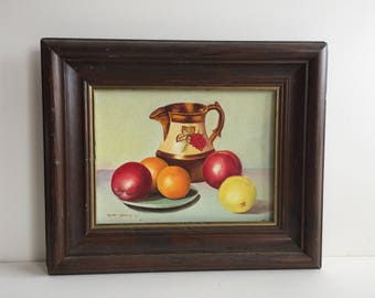 "Vintage Original Oil painting- signed Rosemarie Dempsey '79 on Canvas 17""x14.5""-Still Life Oil Painting/ Collectible original Oil painting"