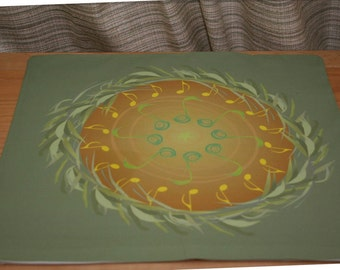 Altar Cloth or Tarot Cloth - Singing Brings the Spring - Pagan or Wicca - Designed by Wendy Wilson of Magic in Your Living Room