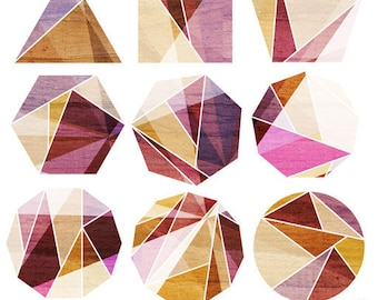 Transition (Geometric Rocks), Art Print - Your Choice of Size