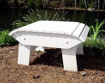 Adirondack Footstool Plans - DWG files for CNC machines