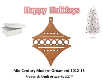 1012-15 Mid Century Modern Christmas Ornament