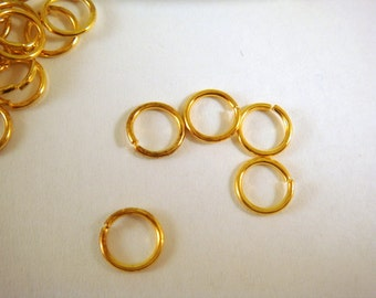 100 Gold Jump Rings 5mm Plated Open 20 Gauge 5mm Outside - 100 pc - F4003JR-G5mm100