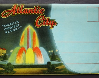 "Atlantic City ""America's Greatest Resort"" Vintage Souvenir Foldout Folder Postcards"