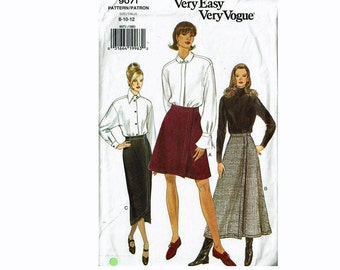 A-Line Wrap Skirt UNCUT Sewing Pattern Very Easy Sizes 8 10 12 Very Easy Vogue 9071 Pattern