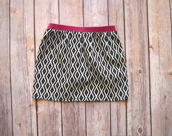 Toddler Girl Skirt | Black Diamond Skirt | Black & Pink | Pop of Color