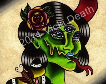 Serpent Angelica Original Tattoo Art