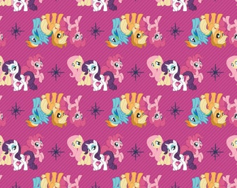 READYMADE - Handmade Cushion Cover - Official My Little Pony - Friends in Pink-  Various Sizes