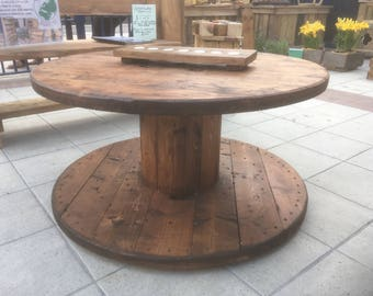 Cable Reel Coffee Table - Great for Indoors or Outdoors