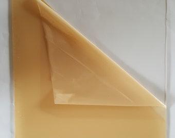 "Clear Acrylic Plexiglass 1/8"" x 12"" x 12"" EXACT Film masking both sides. BRAND NEW"