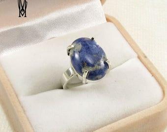 LAZURITE Sterling Silver 925 Handmade Jewelery, Fashionable Ring
